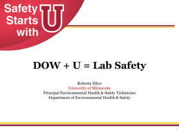 DOW Chemical`s Lab Safety Collaboration with the