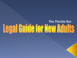 Legal Guide for New Adults