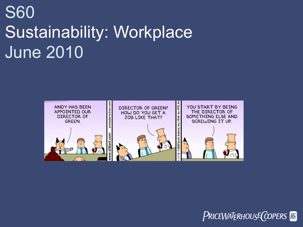 View James Spencer – PwC Sustainable workplace presentation
