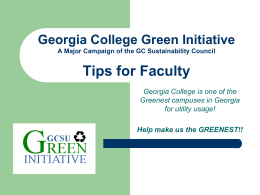 Tips for Faculty (ppt) - Georgia College & State University