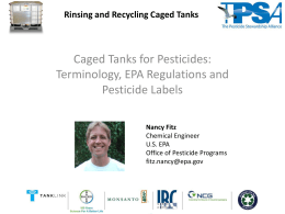 Terminology, EPA Regulations and Pesticide Labels