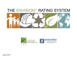 The Envision™ Rating System - Institute For Sustainable Infrastructure