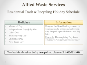 Allied Waste Services Residential Trash