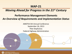 Map 21—Moving Ahead for Progress in the 21st