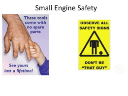 Small Engine Safety - NAAE Communities of Practice
