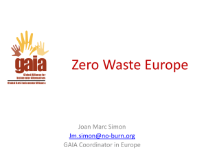Zero Waste Towards sustainability and social justice