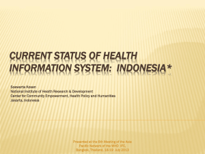current status of health information system: indonesia