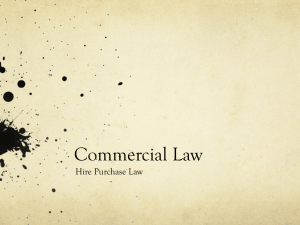 Commercial law Hire Purchase