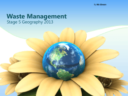 Waste Management Part 1 - Study Is My Buddy 2014