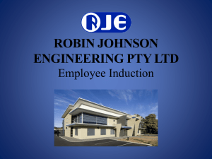 RJE Office Induction 29 07 13