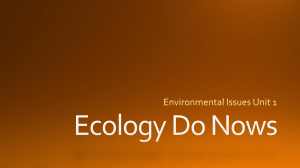 Ecology Do Nows