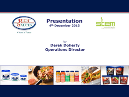 rich sauces presentation