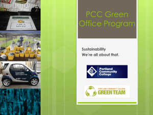 PCC Green Office Program