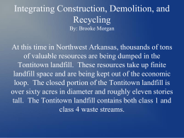 Integrating Construction, Demolition, and Recycling By