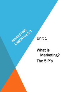 Marketing Essentials/I