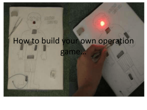 How to build your own operation game*