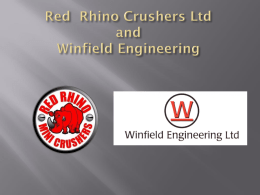 Red Rhino Crushers Ltd and Winfield Engineering