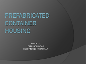 Prefabricated Containter Housing