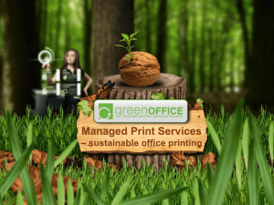 Managed Print Services * sustainable office printing
