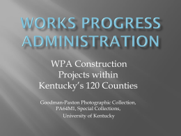 Works Progress Administration 120 KY Co. O-W