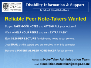 Reliable Peer Note
