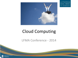 Cloud Computing - Lutheran Services in America