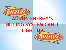 Austin Energy`s Billing System Can`t Light Up