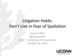Litigation Hold Presentation