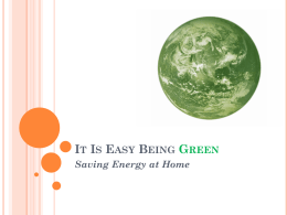 It Is Easy Being Green-powerpoint