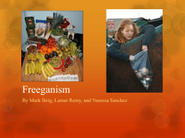Freeganism powerpoint project better