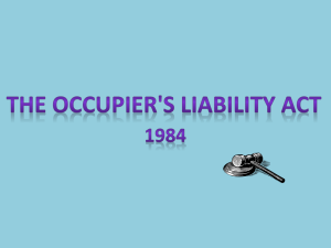 occupiers liabilty act power point