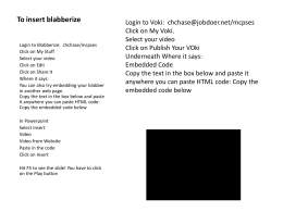To insert blabberize or voki into Powerpoint