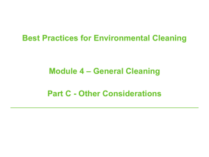 Module four: General cleaning: Part C
