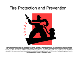 Subpart F Fire Protection and Prevention