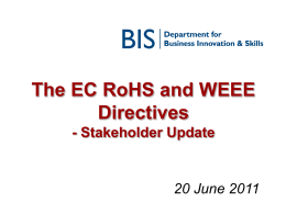 EC Review of the WEEE Directive