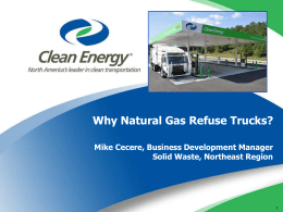Natural Gas Refuse Trucks