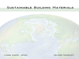 Sustainable Building Materials - UF