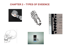 Unit 2 Types of Evidence