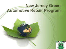 NJ Green Auto Repair Program Overview.