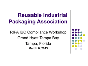 HERE - Reusable Industrial Packaging Association