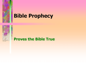 Prophecy Proves the Bible