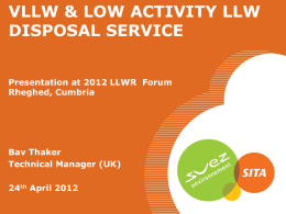 SITA UK - presentation - Low Level Waste Repository Ltd