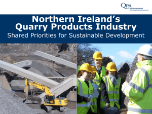 Northern Ireland`s Quarry Products Industry