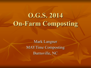 On-Farm Composting - MAYTime Composting