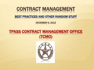 Contract Management - Texas Comptroller of Public Accounts
