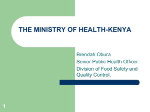 Kenya_MOH PP ON AFLATOXIN-MALAWI
