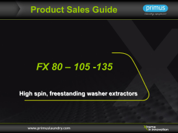 Product Sales Guide FX 80 – 105 -135