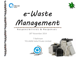 E-Waste Management - What is e-CAP