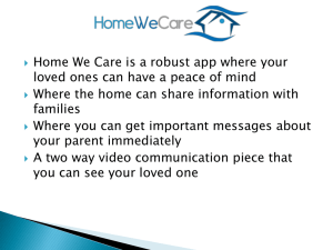 AM-4: Home We Care App