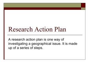 Research Action Plan